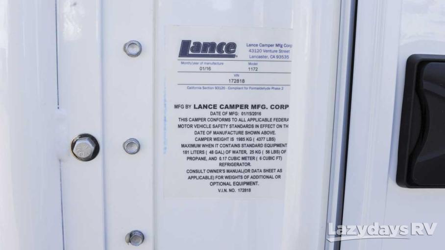 2016 Lance Lance Longbed 1172