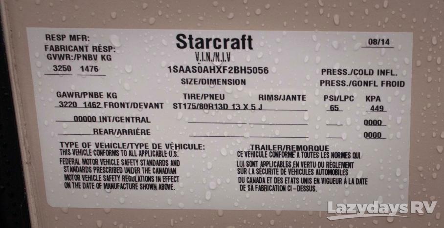 2015 Starcraft Comet H1235SB