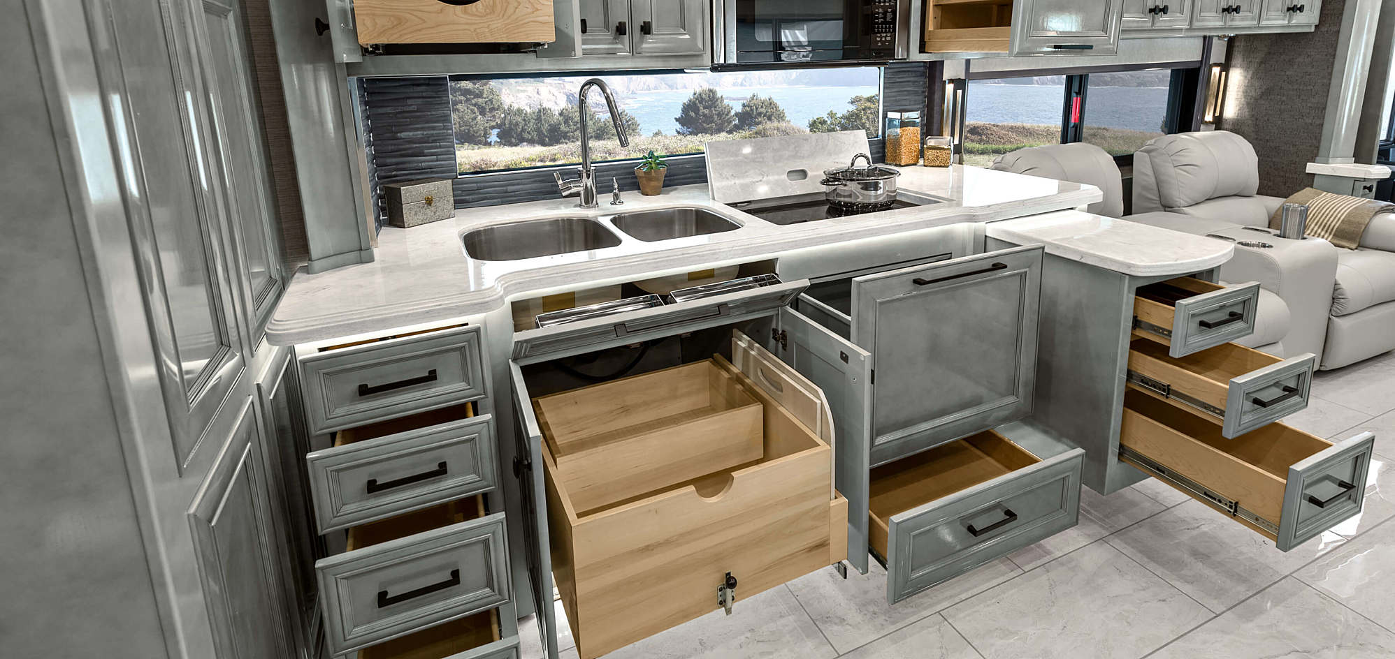 Tiffin Allegro Kitchen RV Storage Tips