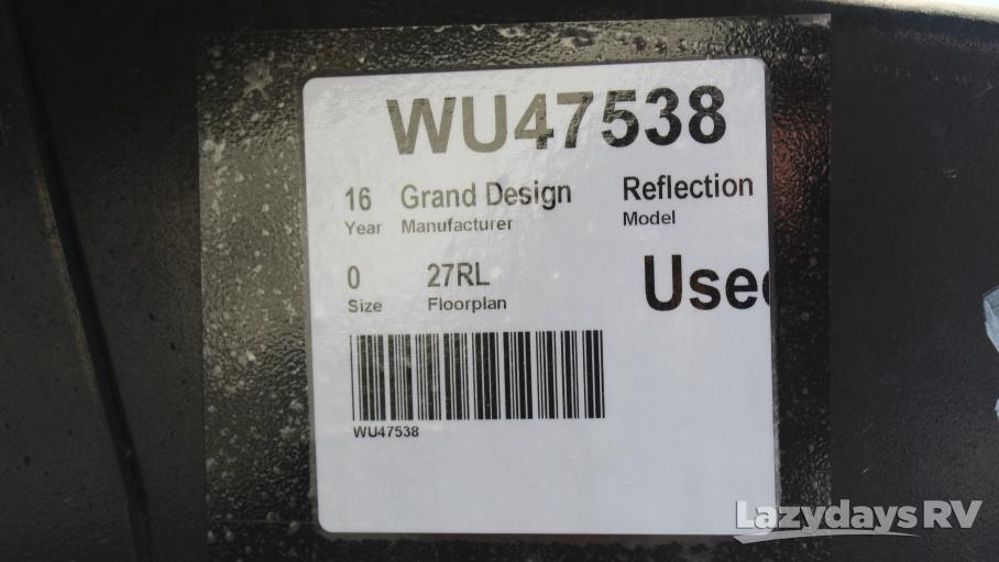 2016 Grand Design Reflection 27RL