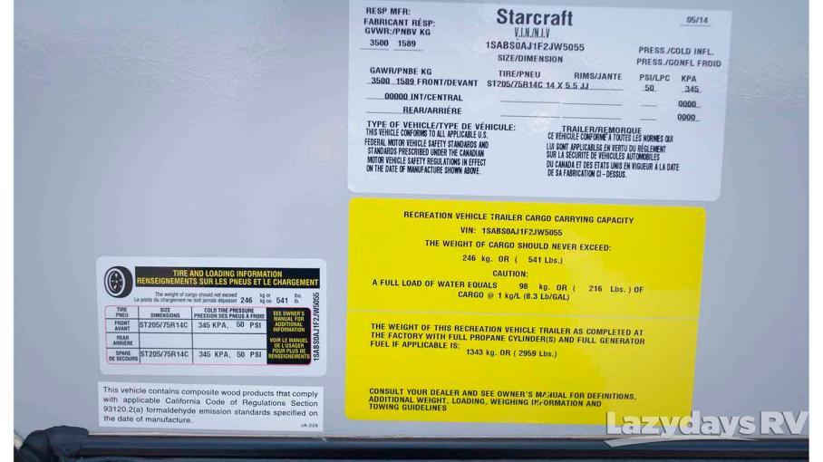 2015 Starcraft Launch 18BH