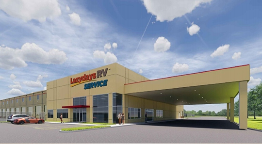 The Lazydays RV Service Center of Houston